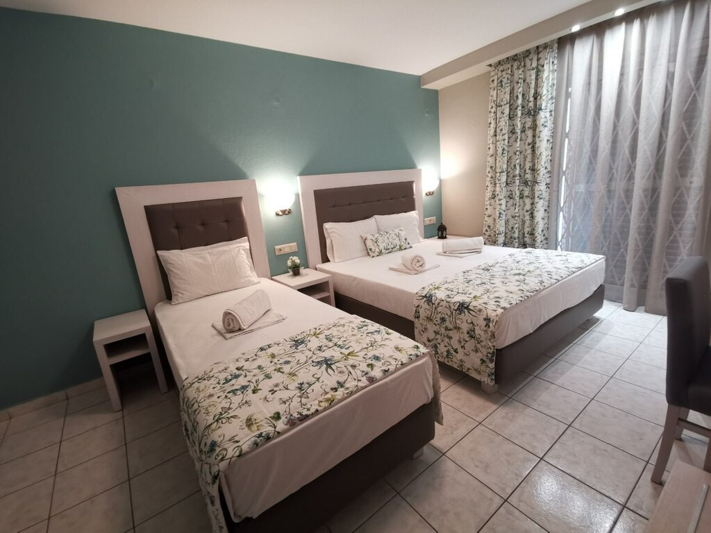 olga hotel sarti sithonia 3 bed studio ground floor 1