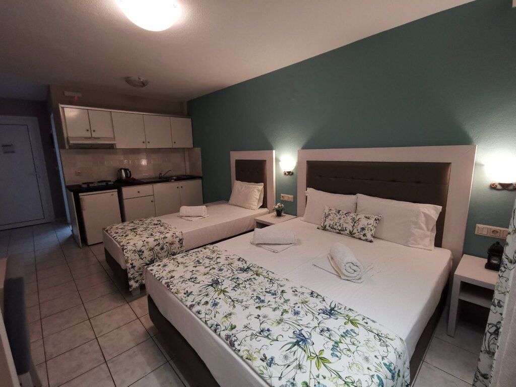 olga hotel sarti sithonia 3 bed studio ground floor 7