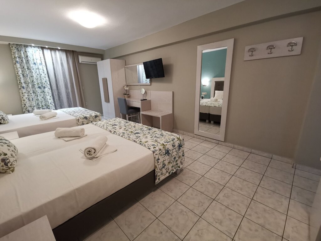 olga hotel sarti sithonia 4 bed studio ground floor 3