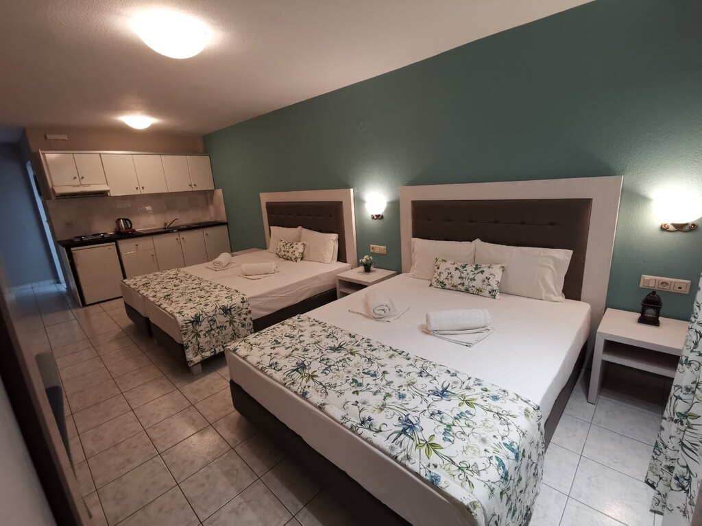 olga hotel sarti sithonia 4 bed studio ground floor 5