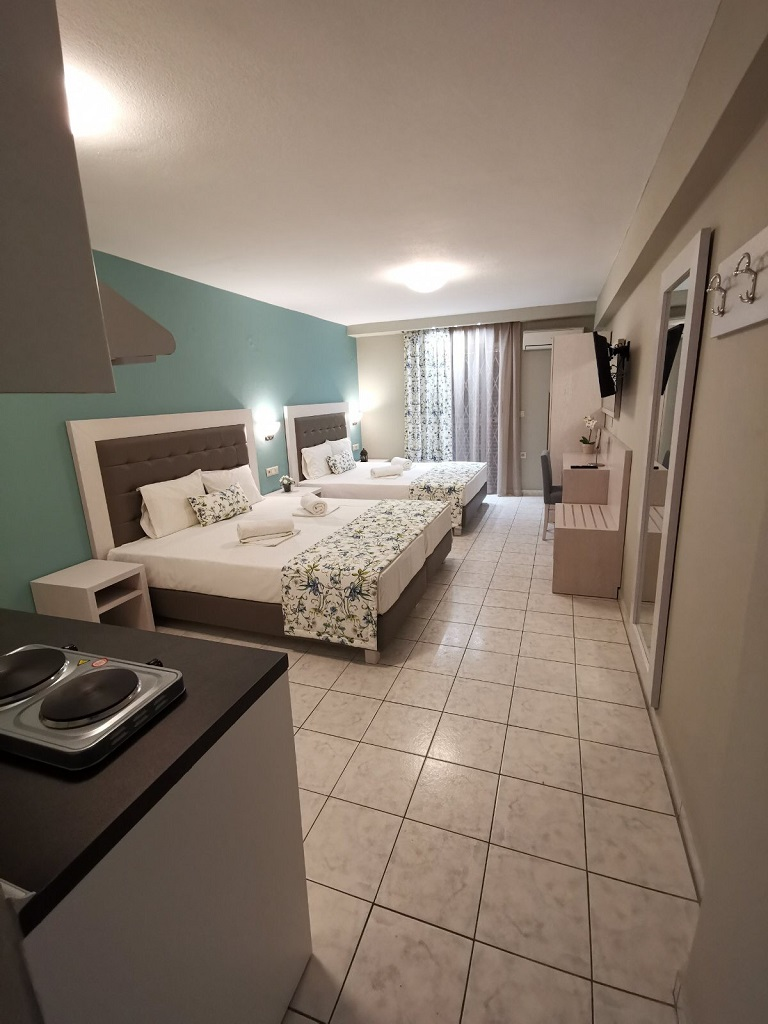 olga hotel sarti sithonia 4 bed studio ground floor 8