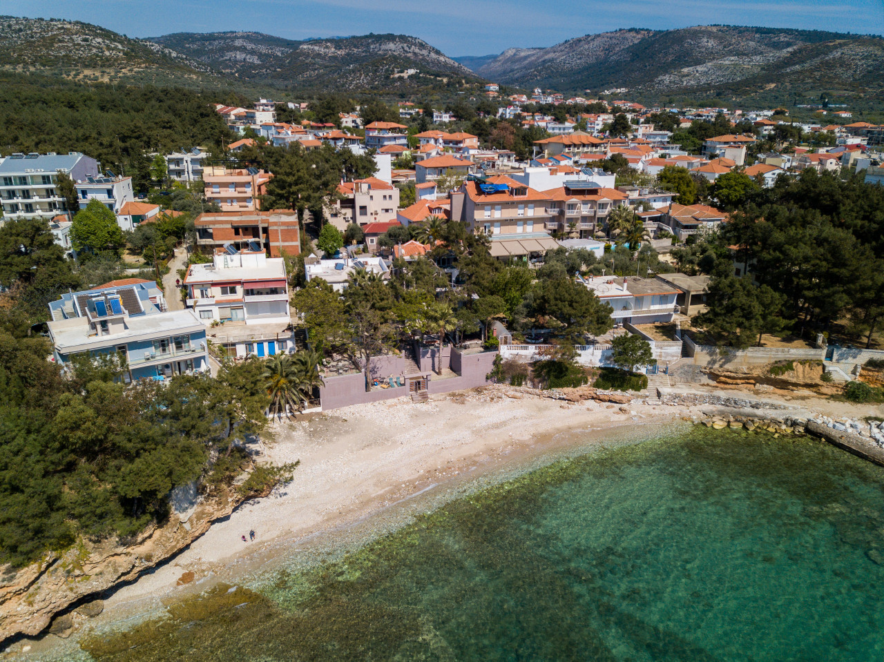 beach in front of papaoikonomou villa 1