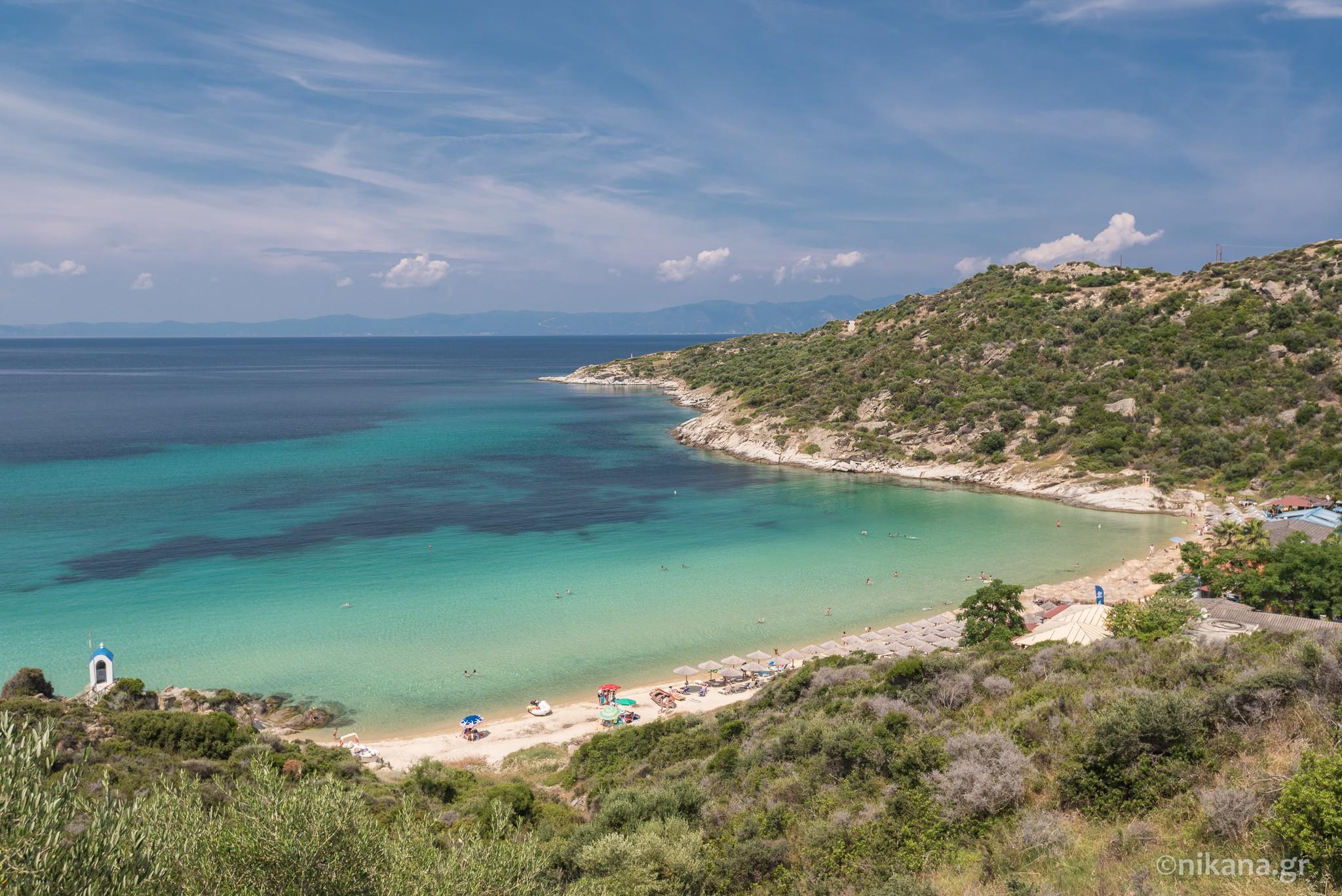 sitonija mapa puteva Klimataria plaža   Sitonija vodič   Nikana.gr sitonija mapa puteva