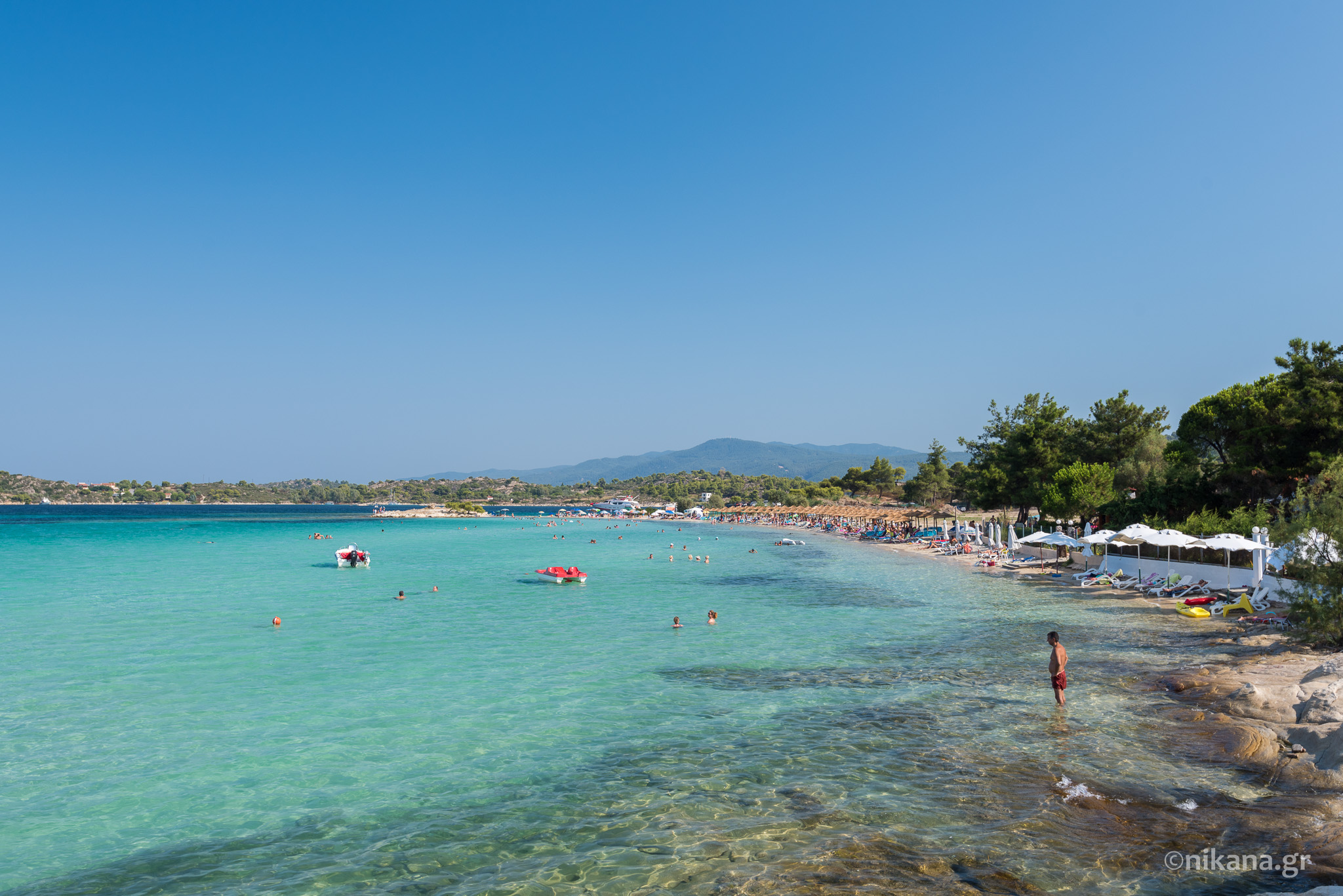 Lagonisi beach Sithonia tourist guide Nikanagr