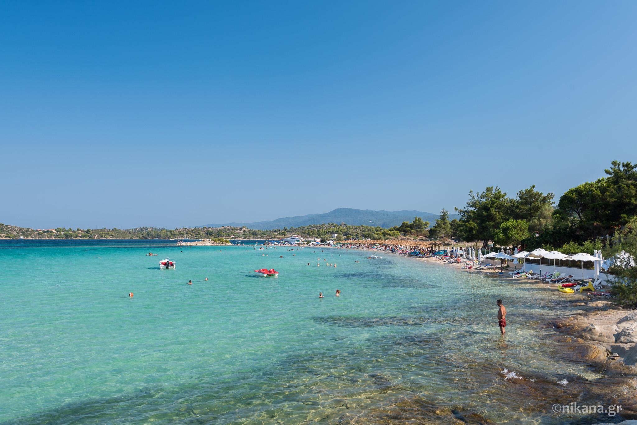 Lagonisi beach - Sithonia tourist guide - Nikana.gr