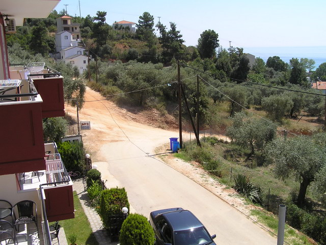 panorama villa golden beach thassos front terrace view 1