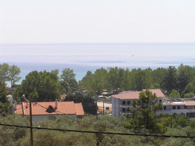 panorama villa golden beach thassos front terrace view 2