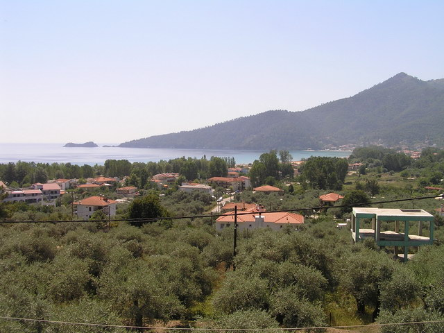 panorama villa golden beach thassos front terrace view 3