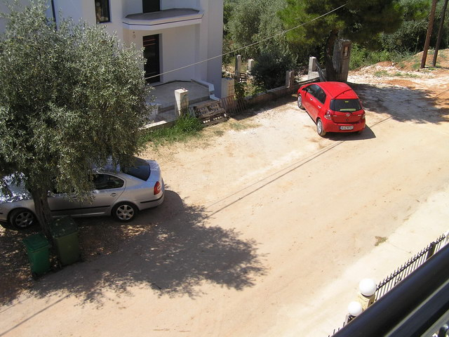 panorama villa golden beach thassos street parking 2