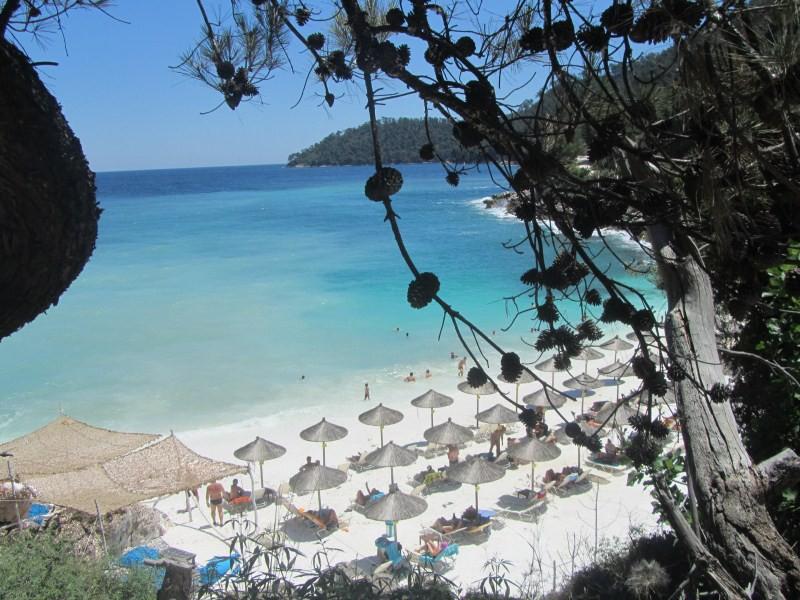 Saliara Marble Beach Thassos Tourist Guide Nikanagr