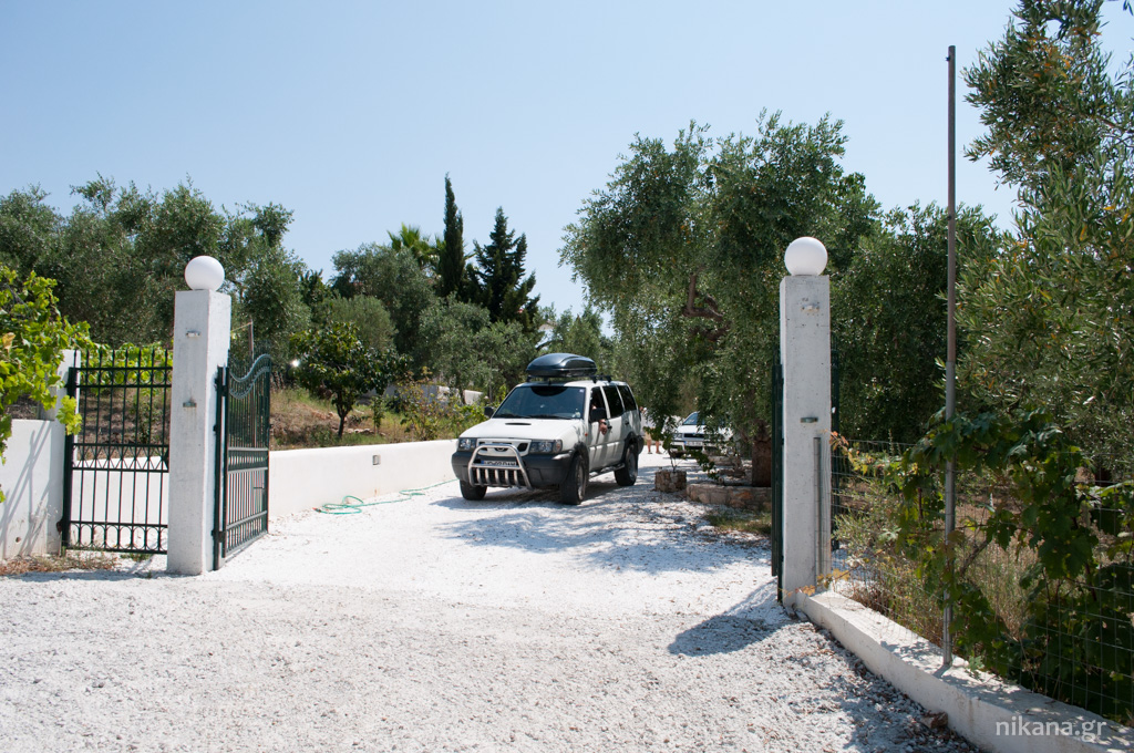 galini apartments entrance astris thassos