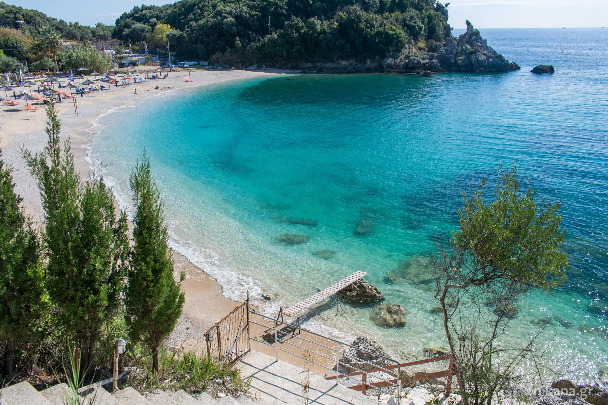 Sarakiniko Beach Epirus Tourist Guide Nikana Gr