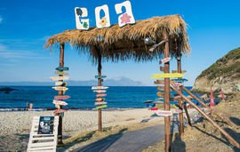 goa beach sithonia 1