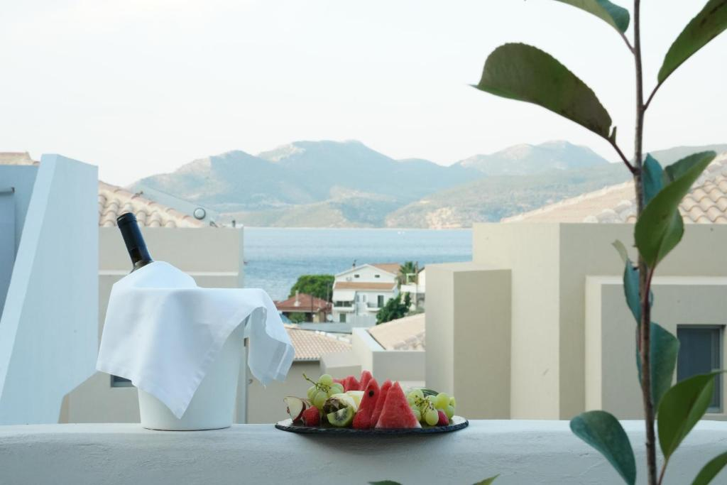 crystal waters suites nikiana lefkada 2 bed rozoli room partial sea view 1