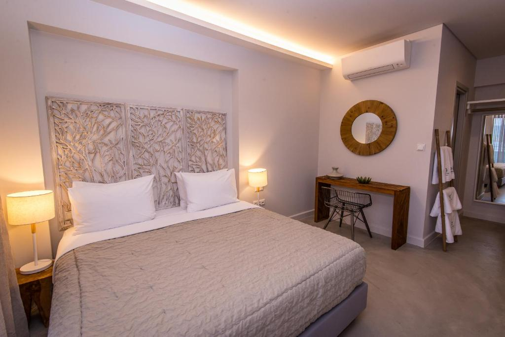 crystal waters suites nikiana lefkada 2 bed rozoli room partial sea view 2