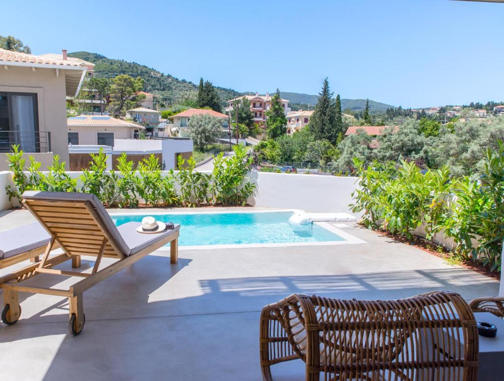 crystal waters suites nikiana lefkada presidential suite private pool partial sea view 2