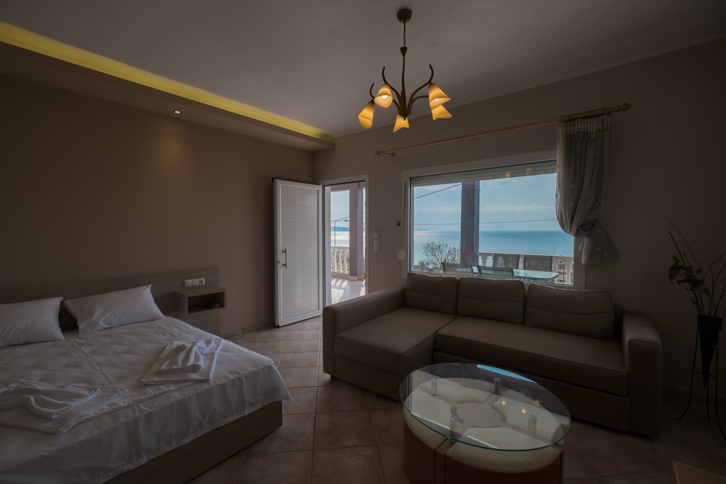antonis rooms limenaria thassos 4 bed std front  (2)