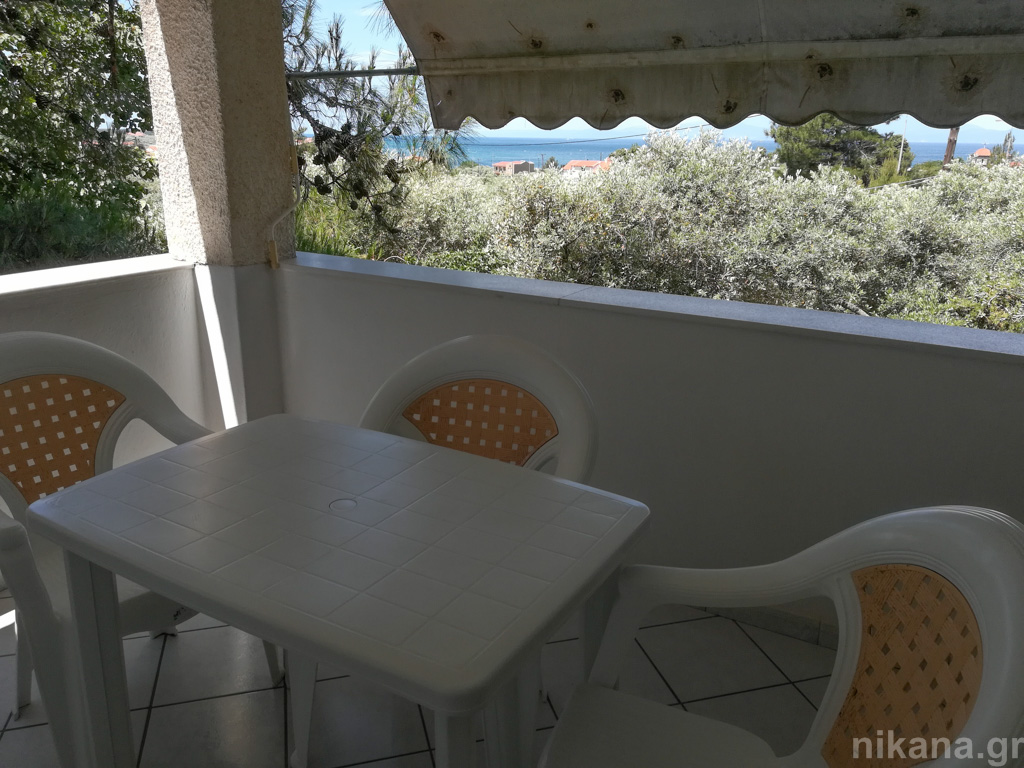 litsa villa skala rachoni thassos 3 bed studio kitchen on bancony #1  (8)