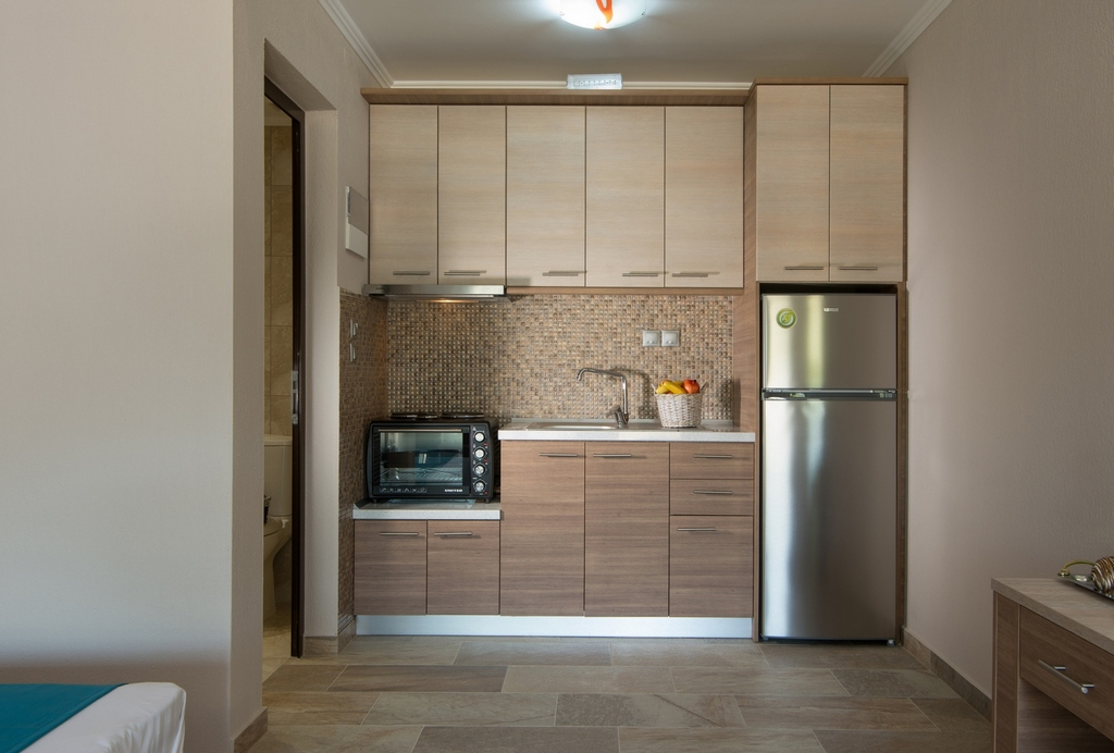 anthemida studios and apartments sykia sithonia kitchen 1